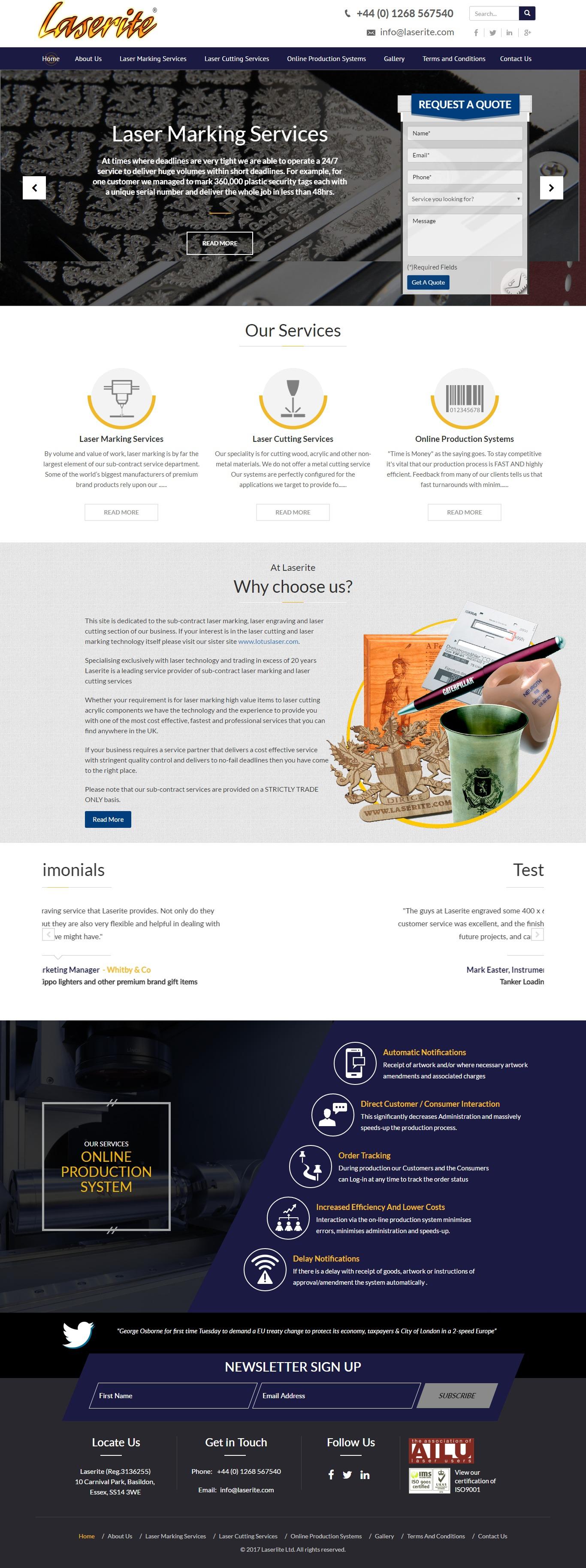 Website for laser marking business